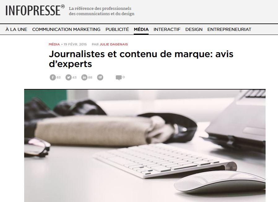 Journalistes et contenu de marque: avis d'experts
